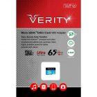 کارت حافظه میکرو اس دی Verity مدل U1 433X ظرفیت 32 گیگابایت