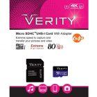 کارت حافظه میکرو اس دی Verity مدل U3 533X ظرفیت 64 گیگابایت