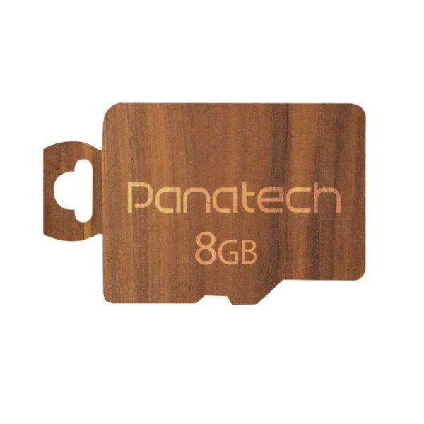 کارت حافظه میکرو اس دی Panatech پک چوبی 8 گیگابایت