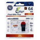 کارت حافظه microSDHC ویکومن 600X ظرفیت 64 گیگابایت به همراه کارتخوان