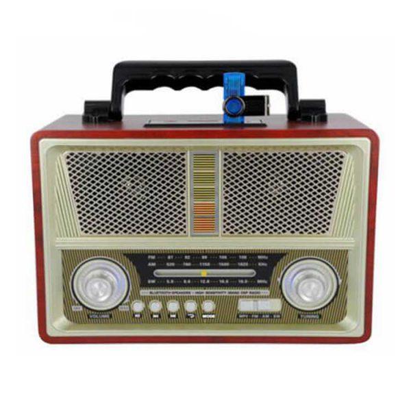 رادیو اسپیکر بلوتوثی رم و فلش خور Kemai مدل 1802BT بژ