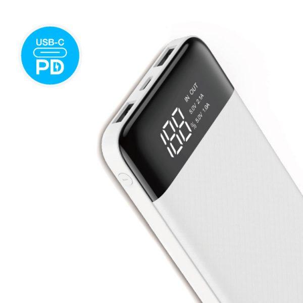 پاوربانک Verity ظرفیت 10000mAh فست شارژ مدل V-PU109-PD سفید