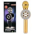 میکروفون و اسپیکر بلوتوثی رم و فلش خور WSTER مدل 669 طلایی
