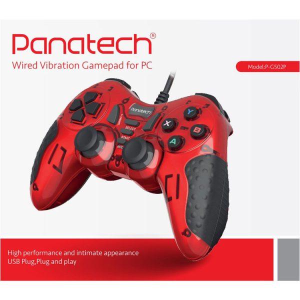 دسته بازی تک شوکدار حرفه ای Panatech مدل G502 قرمز