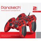 دسته بازی دوبل شوکدار حرفه ای Panatech مدل G501 قرمز