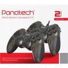 دسته بازی دوبل شوکدار حرفه ای Panatech مدل G501 مشکی